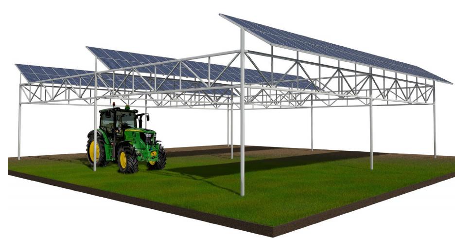 Konstrukcja fotowoltaiczna dla gospodarstwa rolnego